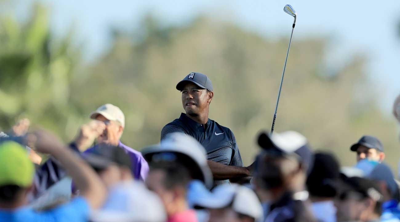 Tiger Woods attracts a crowd.