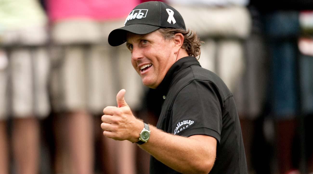 Phil Mickelson has fans wherever he goes.