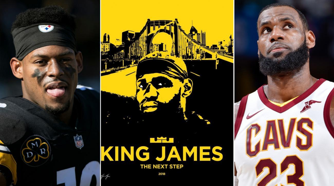 size 40 d1455 49d7e Steelers' JuJu Smith-Schuster recruits LeBron James | SI.com