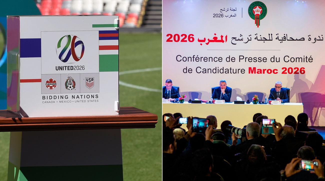 North America and Morocco are bidding to host the 2026 World Cup