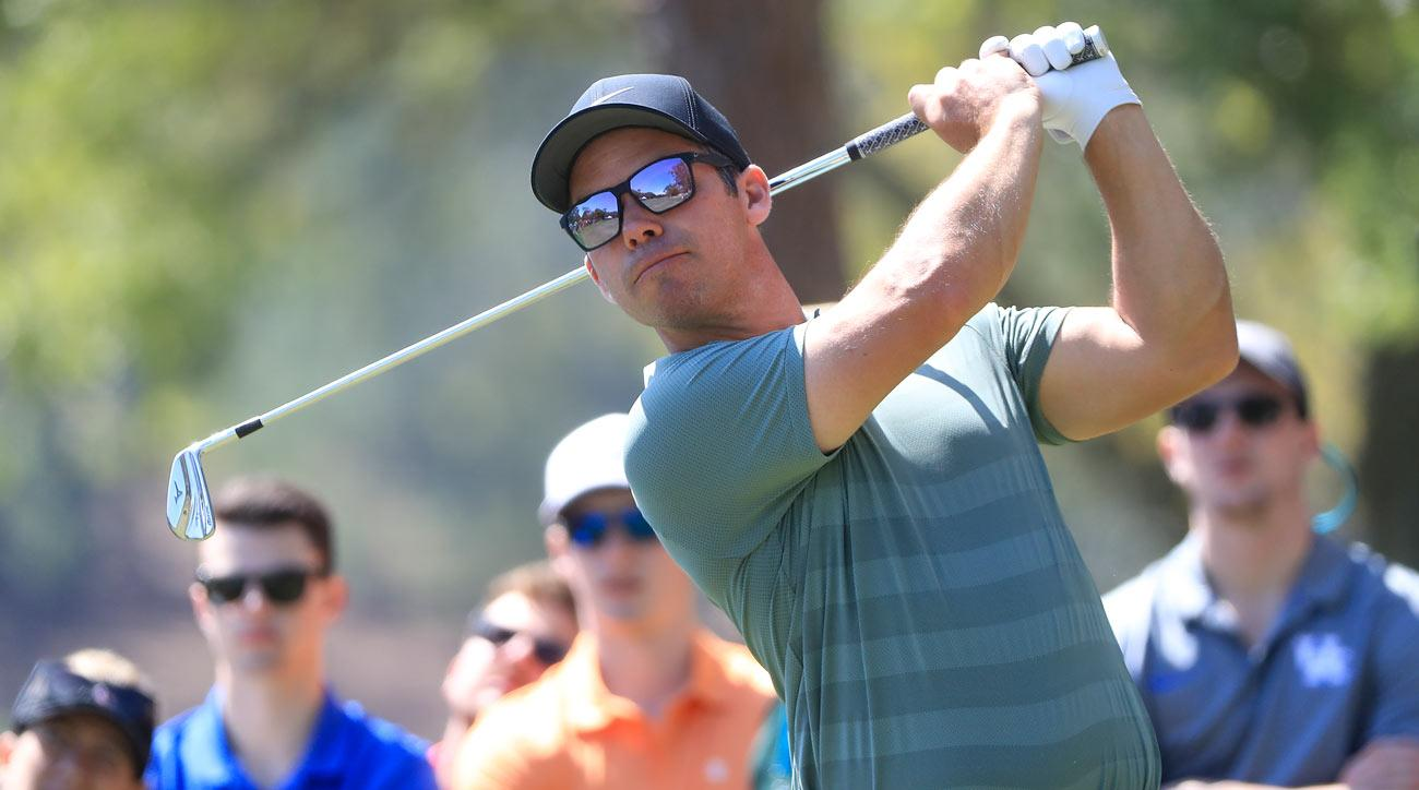 Paul Casey plays his shot from the second tee during the final round of the Valspar Championship.