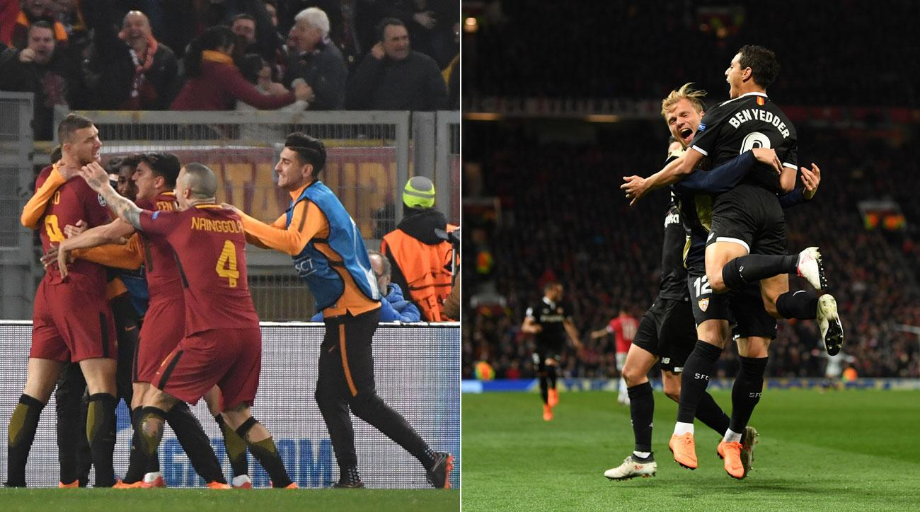 Sevilla and Roma head to the Champions League quarterfinals
