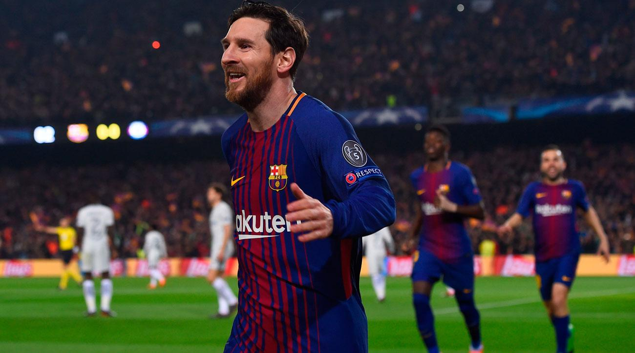 Barcelona  Messi Scores Two Has  In Ucl Video Si Com