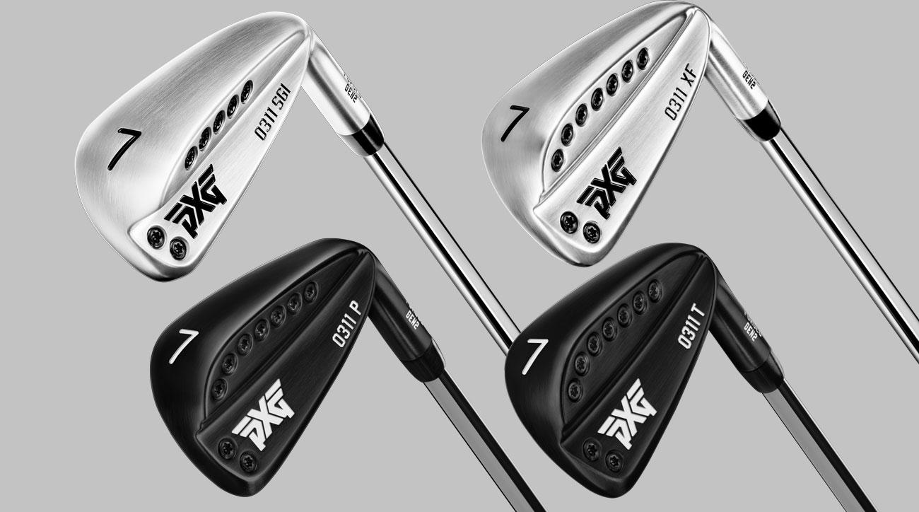 Clockwise from top left: The new PXG GEN2 0311 SGI, PXG GEN2 0311 XF, PXG GEN2 0311 P and PXG GEN2 0311 T irons.