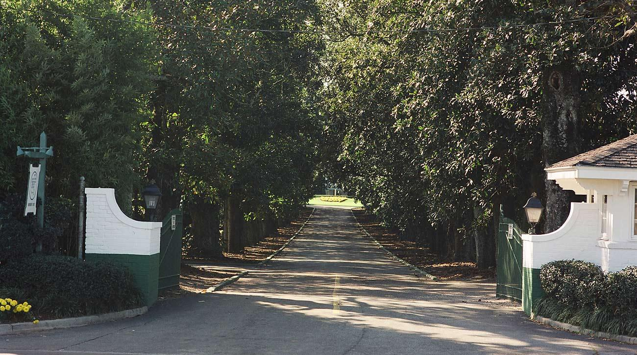 The main entrance to Augusta National is known as Magnolia Lane.