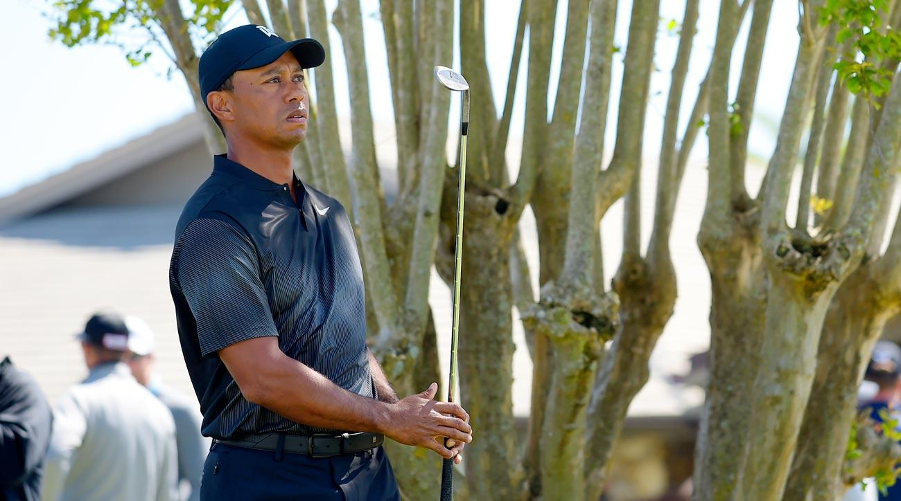 Tiger Woods gets in a little practice at the Arnold Palmer Invitational on Wednesday.