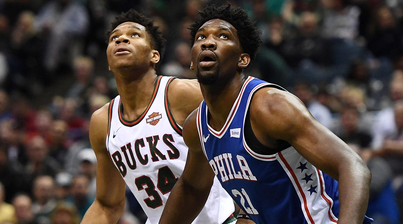 Giannis Antetokounmpo and Joel Embiid