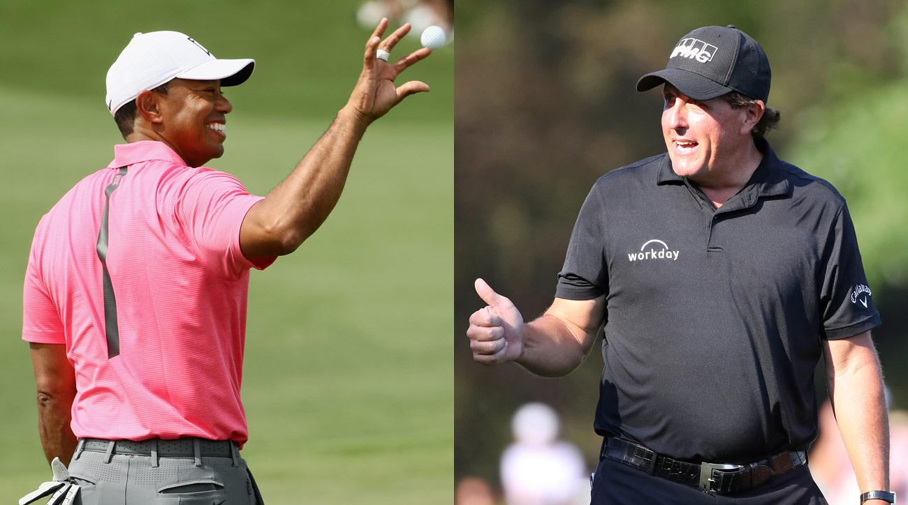 According to Fred Couples, Tiger Woods and Phil Mickelson will tee it up together Tuesday at Augusta National.
