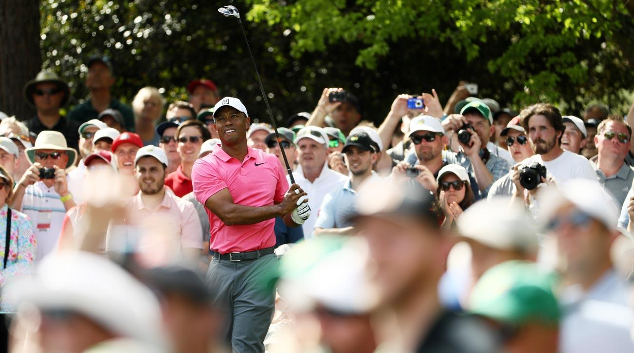 Follow Tiger Woods's entire first round at the Masters below.