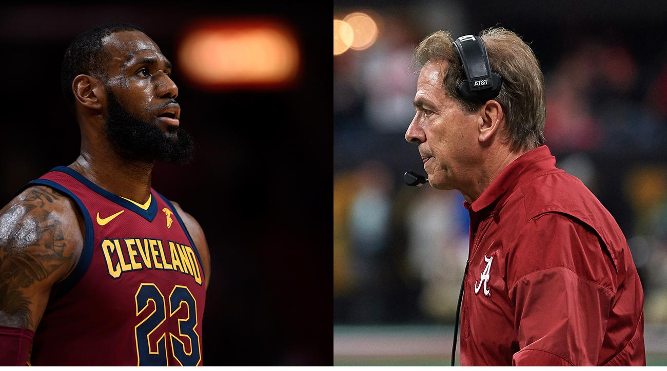 fe531061161b Nick Saban LeBron James  Alabama coach