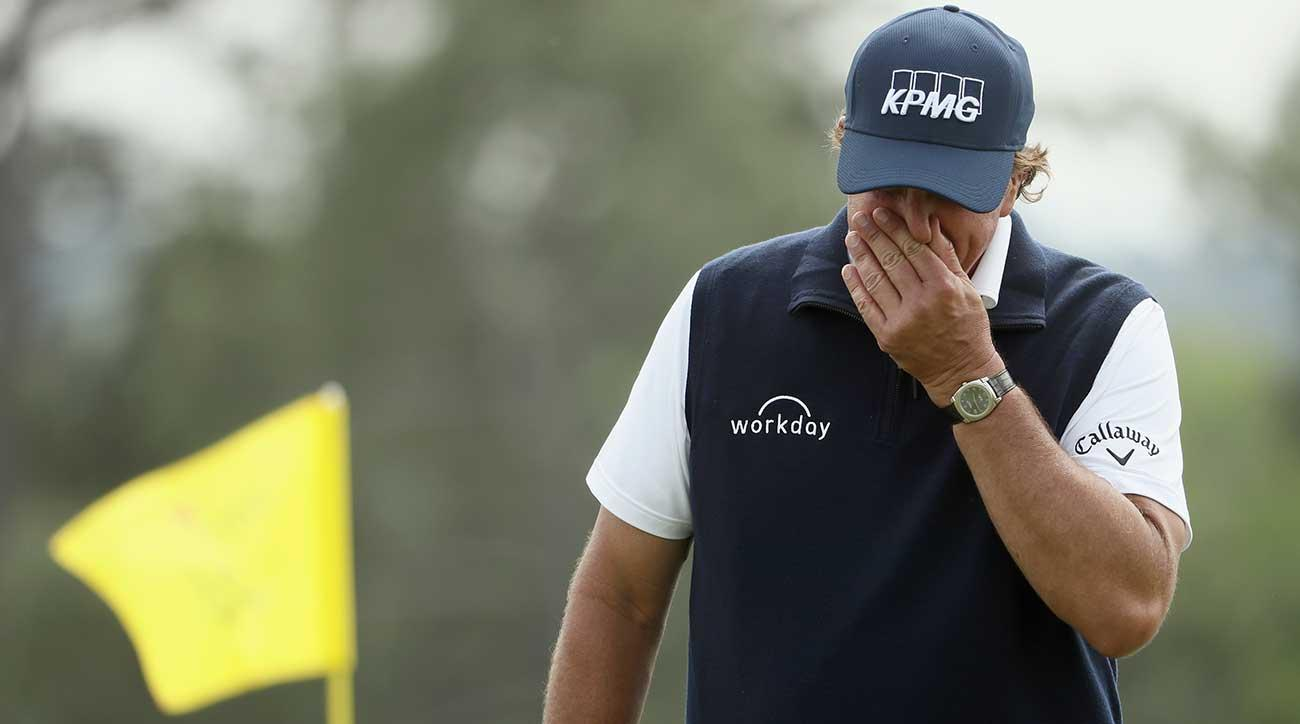Phil Mickelson committed some crucial mistakes in his second-round 79.