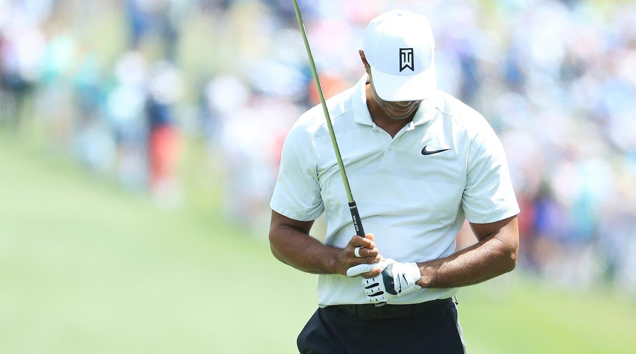 Tiger Woods on Friday during the second round of the 2018 Masters.