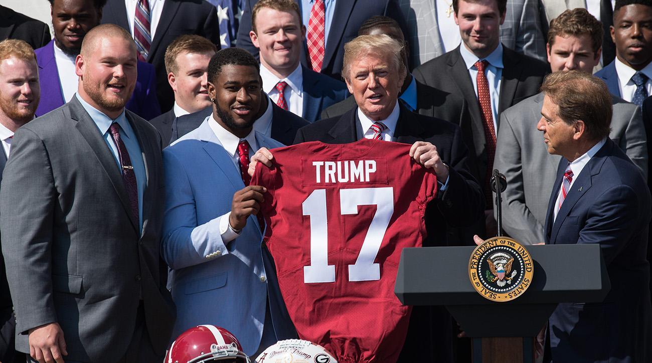 Alabama Football Team Visits The White House Si