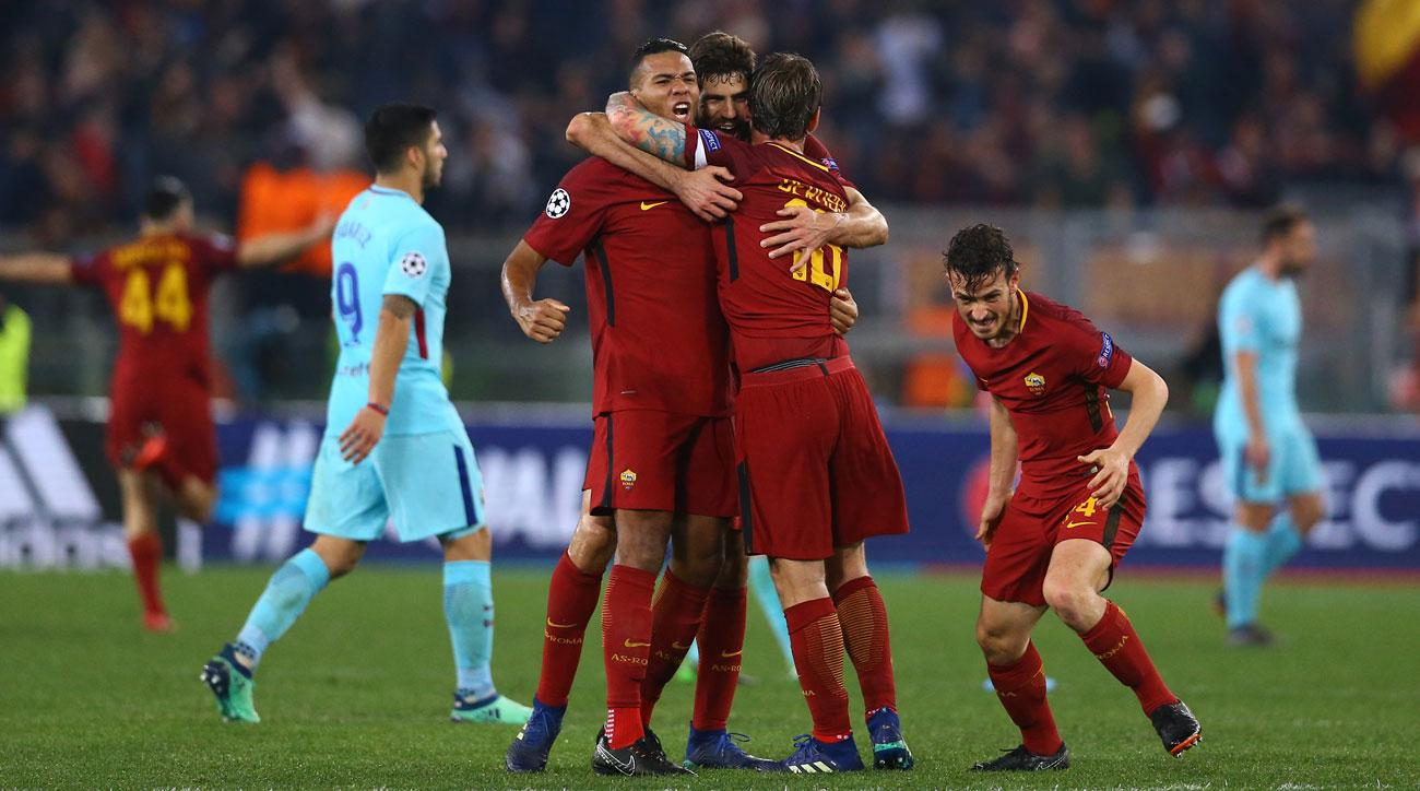 Roma comes back from three goals down to stun Barcelona in Champions League