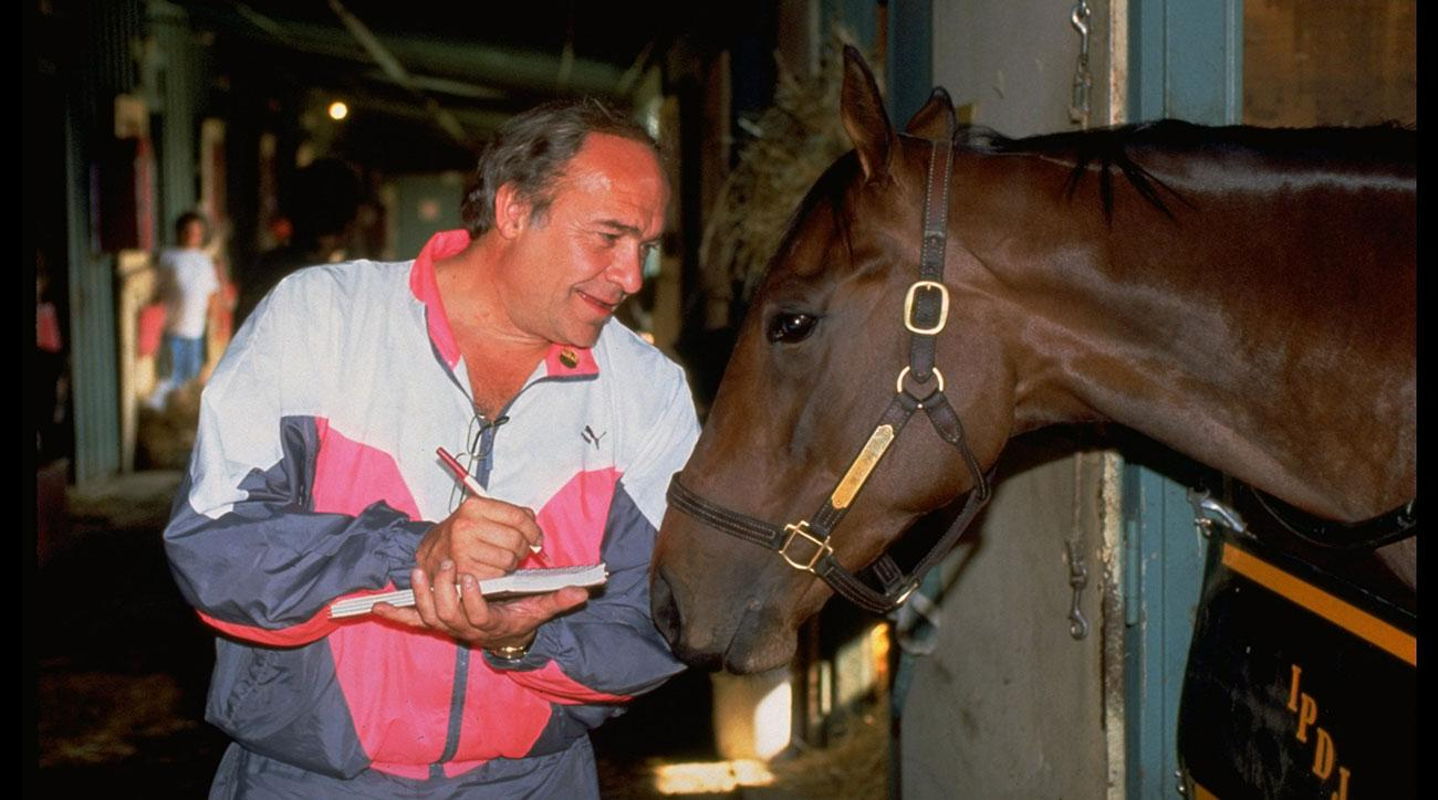 William Nack at the Santa Anita Derby, interviewing Best Pal. Credit: Heinz Kluetmeier
