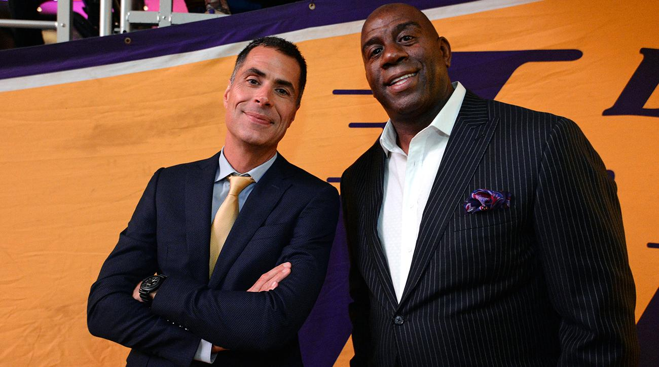 Rob Pelinka and Magic Johnson