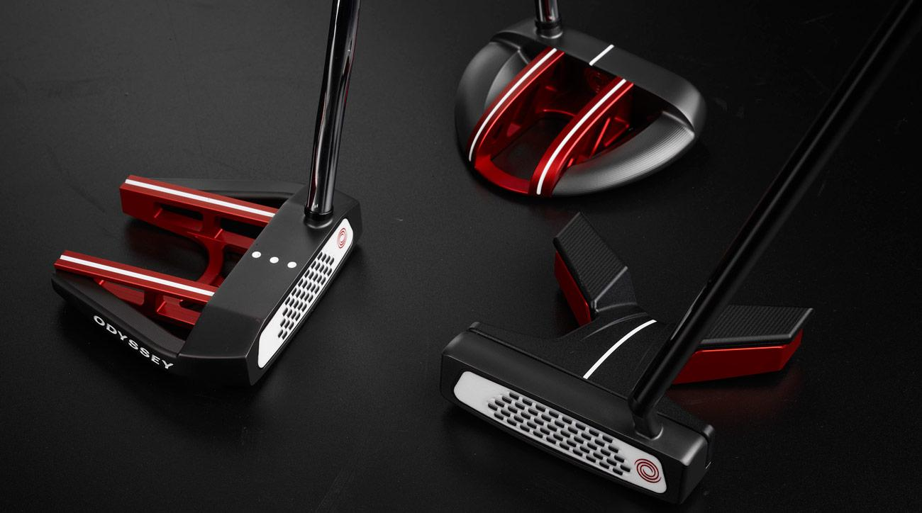 The new line of Odyssey EXO putters.