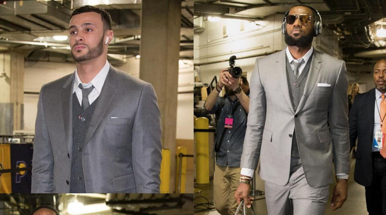 715a80995201 Cavaliers matching suits  Twitter jokes about Cleveland