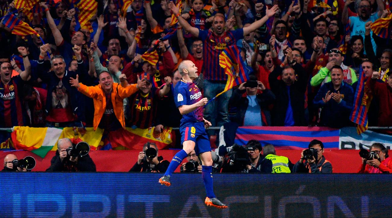 Andres Iniesta leads Barcelona to the Copa del Rey title