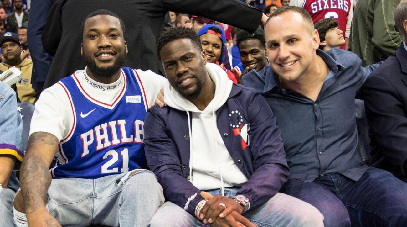 709b6c56d Meek Mill Release  From Jail Cell to Courtside With the 76ers