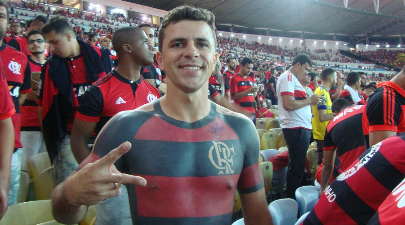 8356c973d Flamengo soccer fan covers body in jersey tattoo (photo)