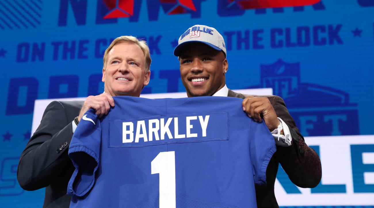 sports shoes 8939b bd2a6 Giants' Saquon Barkley: RB tops jersey sales for first-round ...