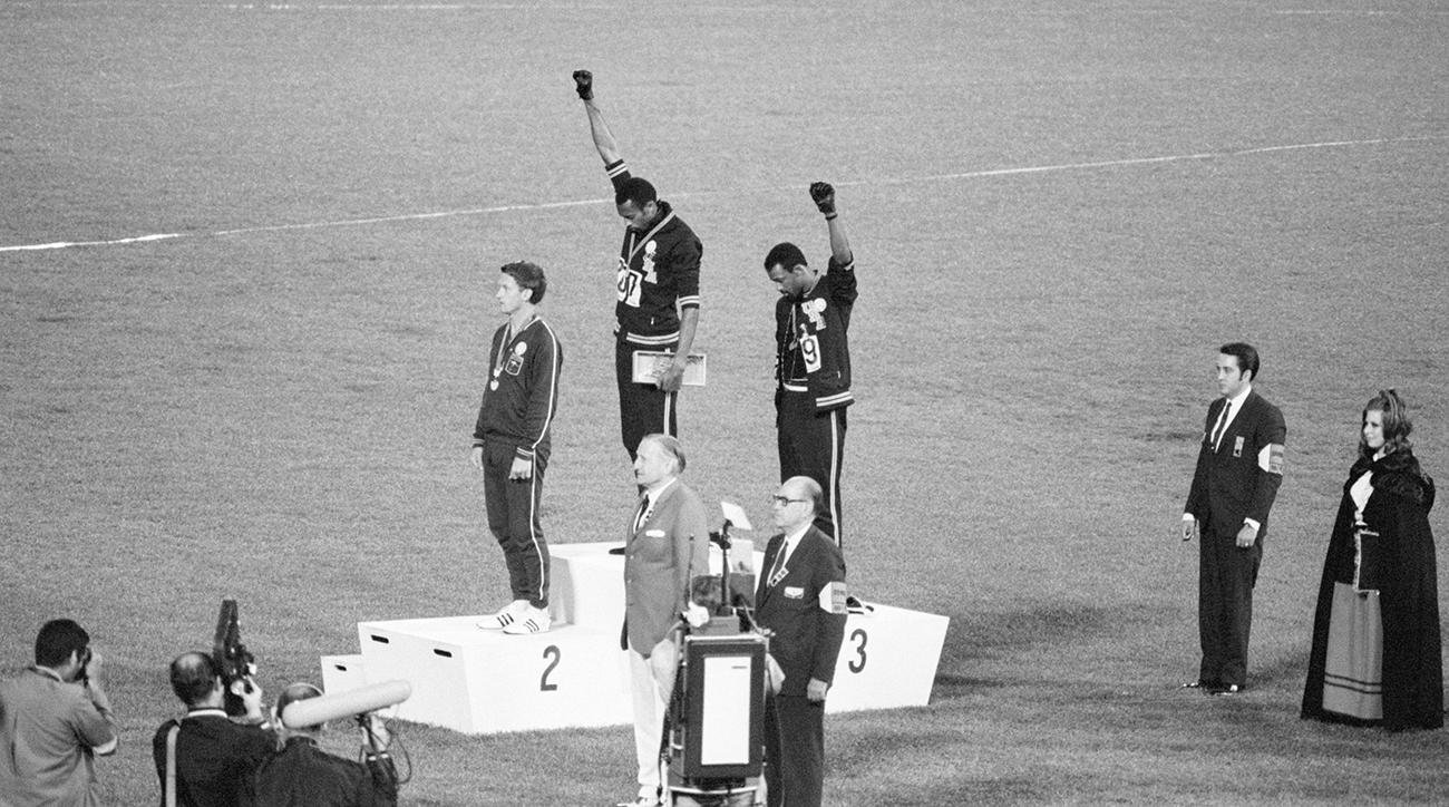 Tommie Smith, John Carlos, peter norman, 1968 olympics