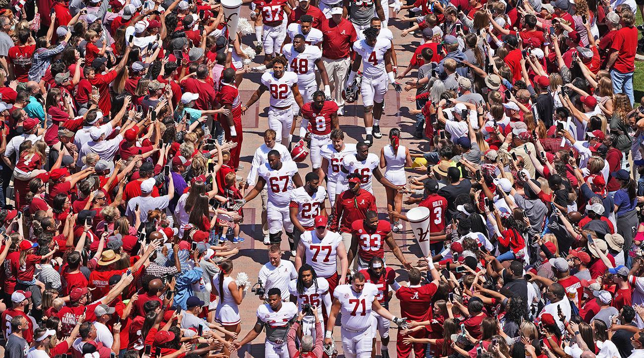 Alabama Spring Football: Behind the scenes with Nick Saban