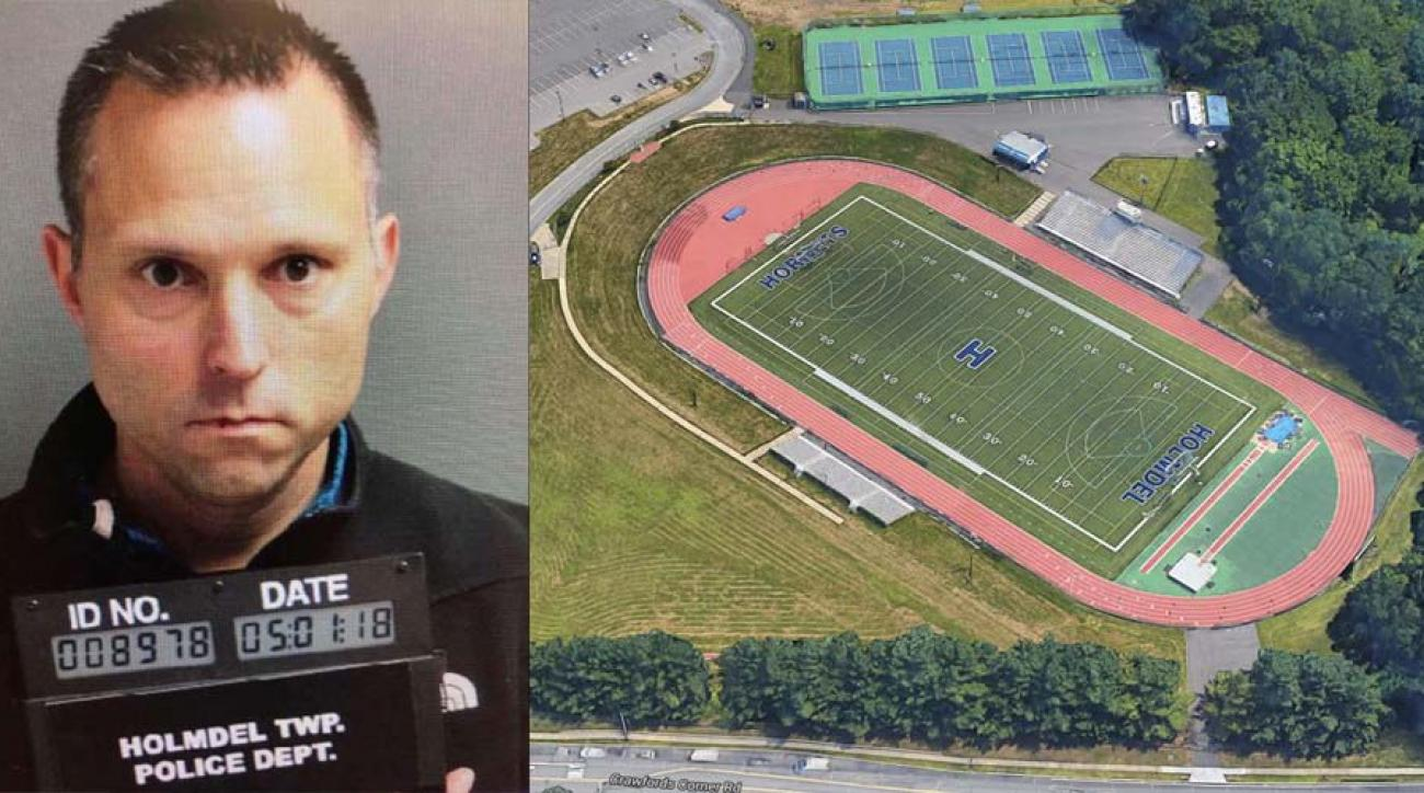 New Jersey high school football field pooper captured