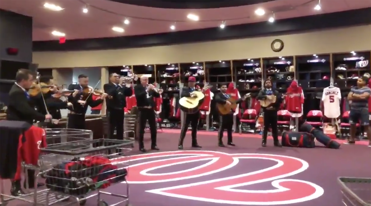 Nationals, Cinco de Mayo, nationals Band in Clubhouse, phillies