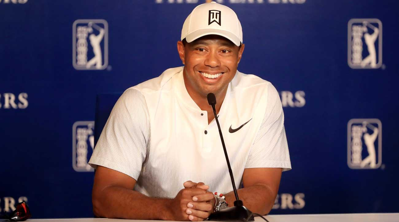 Tiger Woods was thoughtful during his Tuesday press conference, but still found time to squeeze in a few barbs at his competitors.