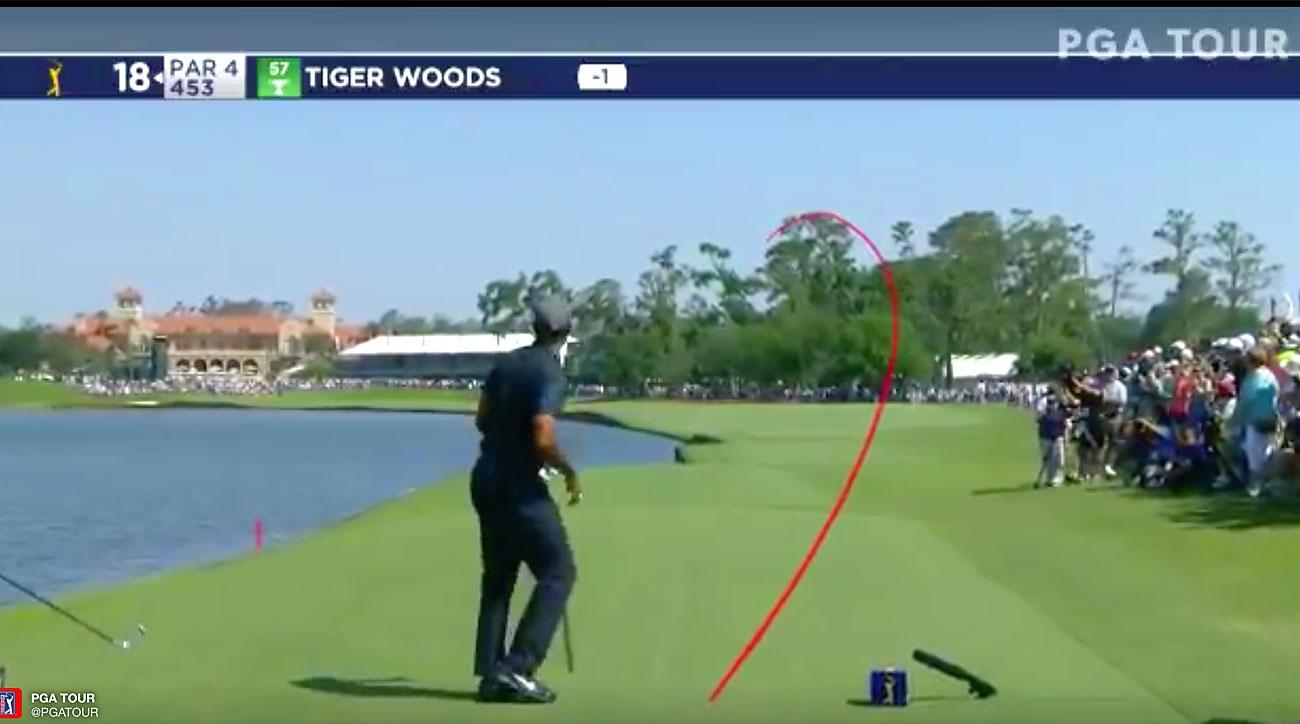 Tiger Woods, TPC Sawgrass, 18th hole
