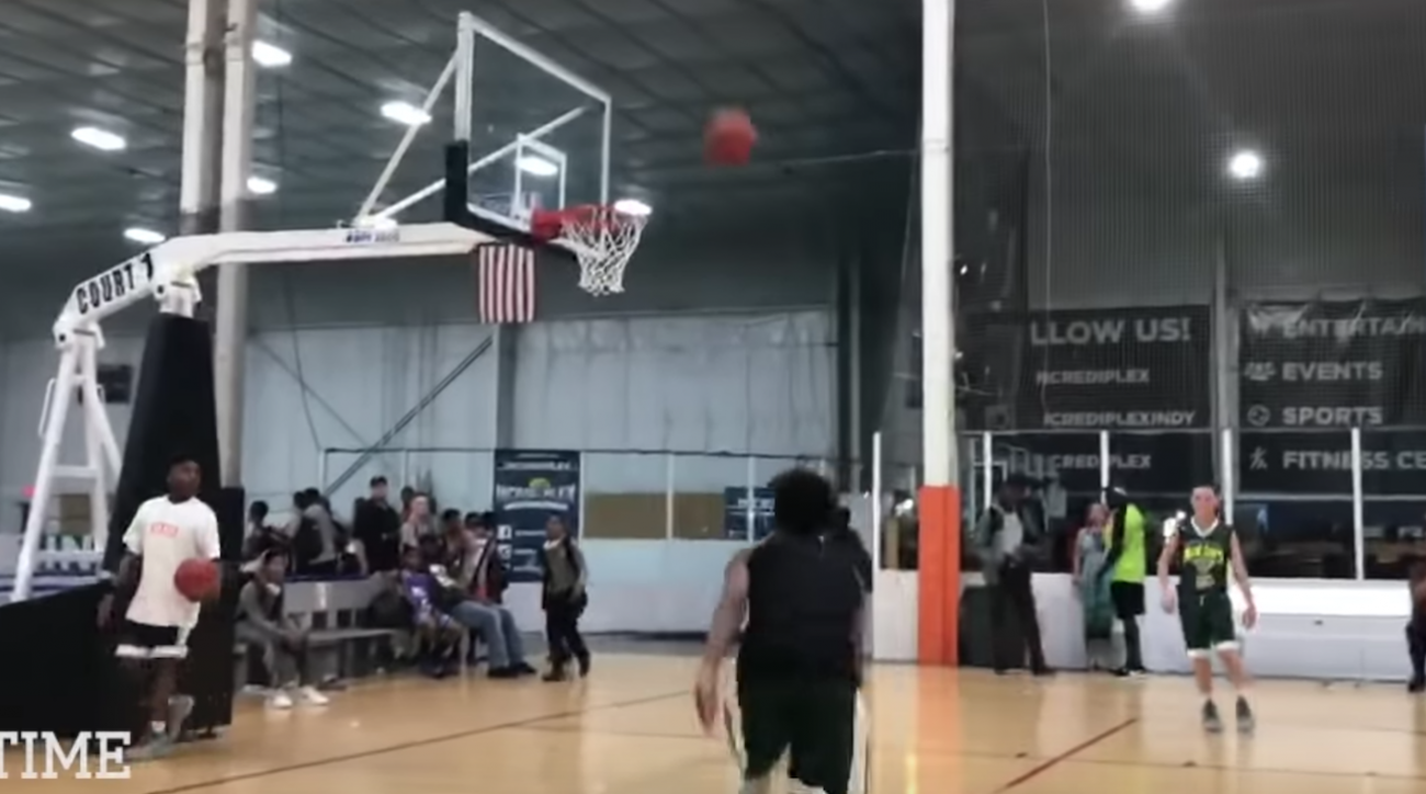 1164b18f414 LeBron James Jr  13-year-old can almost dunk (video)
