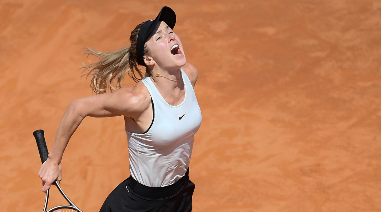 Elina Svitolina beat Simona Halep to win the Italian Open title