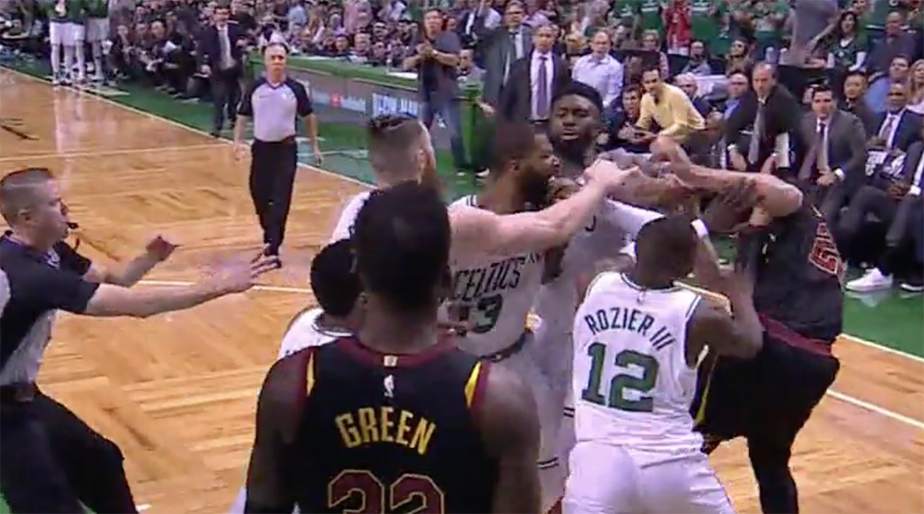 marcus morris, larry nance jr., Celtics, cavs, cavaliers, nba playoffs