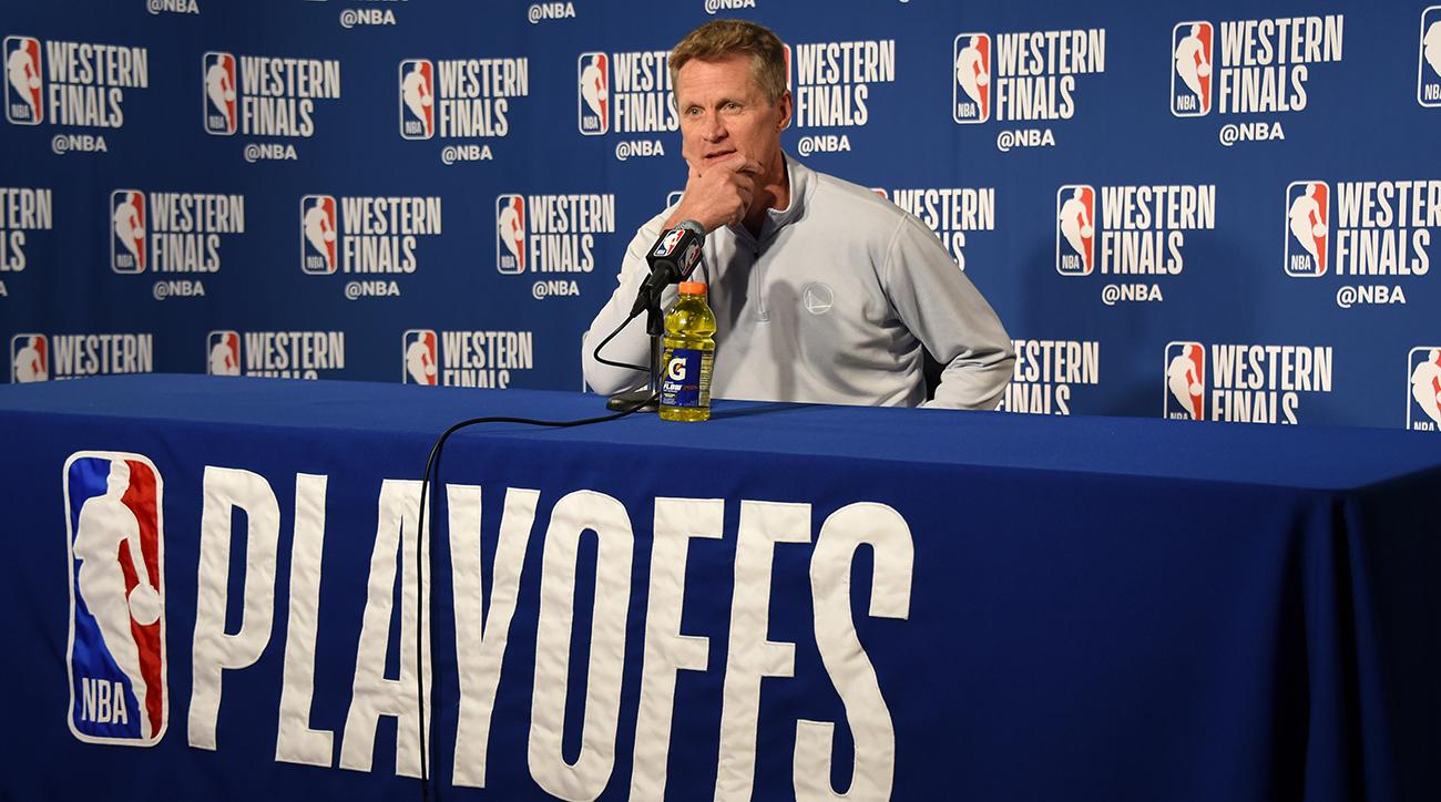 steve kerr, warriors, rockets, game 4, nba playoffs, nba western conference game 4, 2018 nba playoffs
