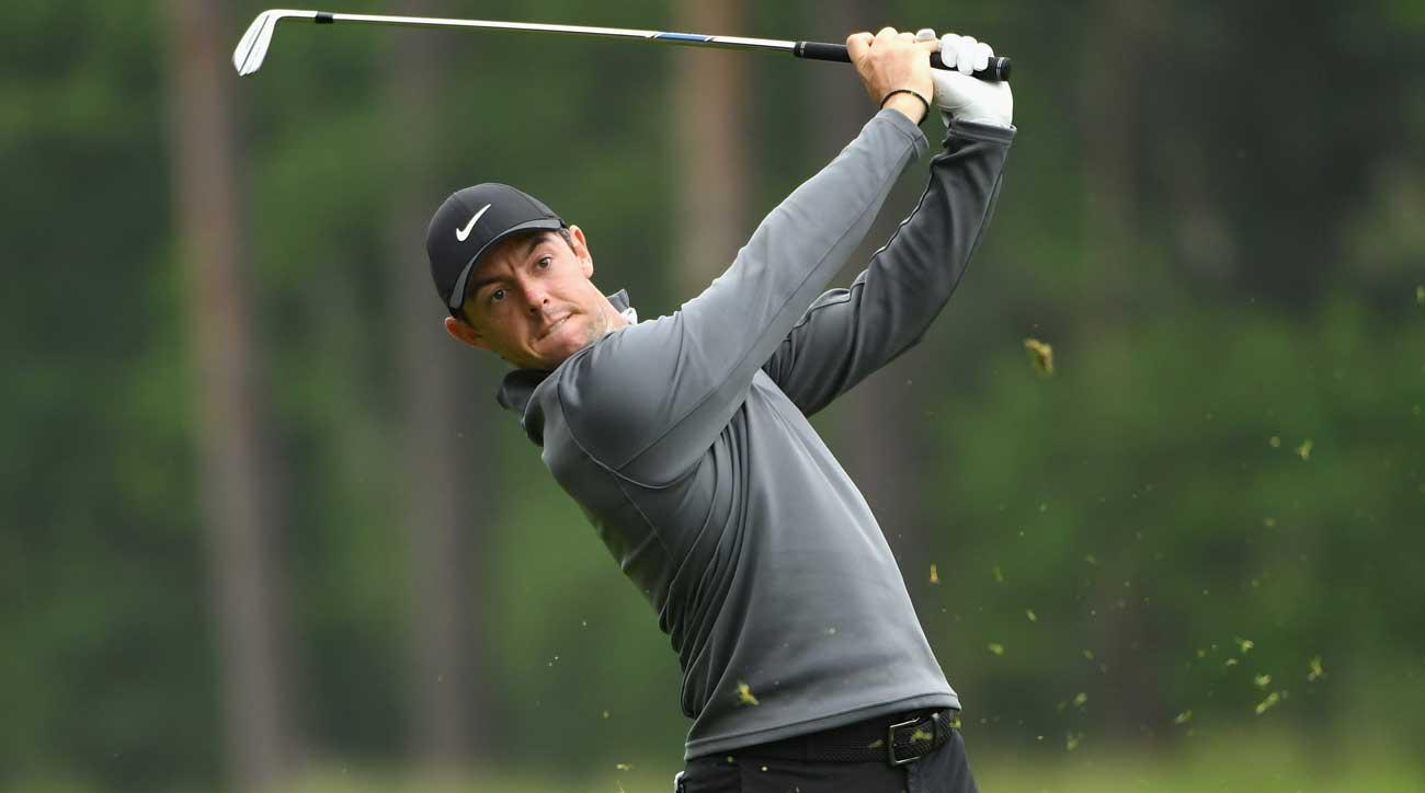 McIlroy surged to the lead Friday morning with a display of iron excellence.