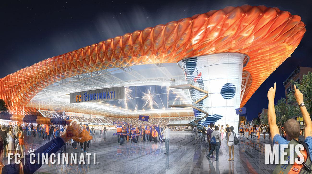 FC Cincinnati will start play in MLS in 2019 and move into a new stadium in 2021
