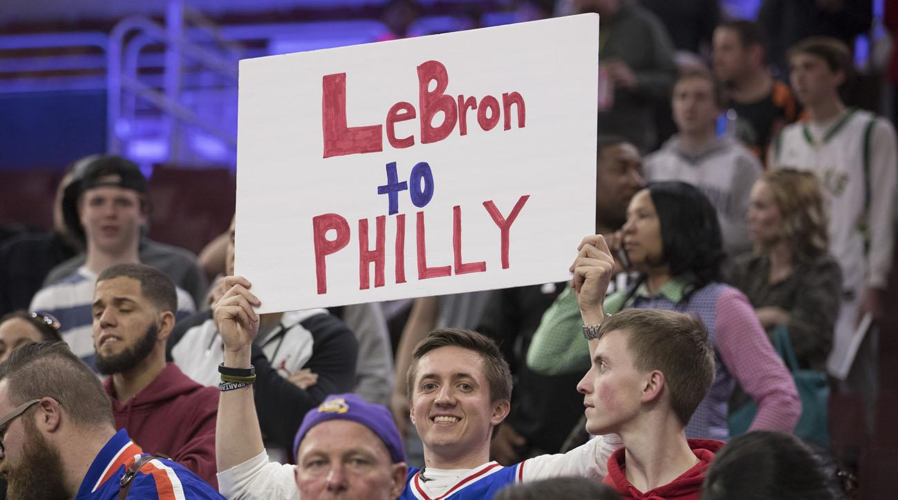 9f8b1ce777a9 LeBron James to the 76ers  Bryan Colangelo Twitter lowers odds he signs