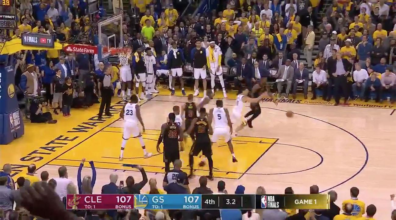 937a4cc8f64 JR Smith dribbles out clock video  Warriors vs Cavaliers Game 1