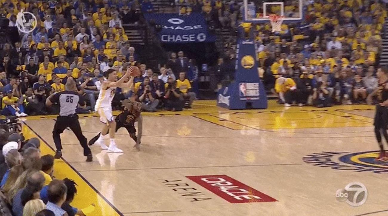 Klay Thompson leg injury Game 1