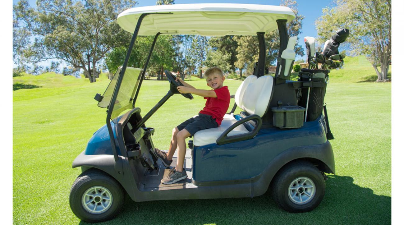 Even if your child isn't interested in hitting shots, he may want to help keep score or hold the flagstick.