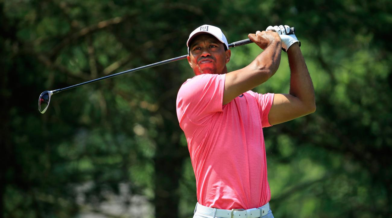 memorial leaderboard  bryson dechambeau leads  tiger woods