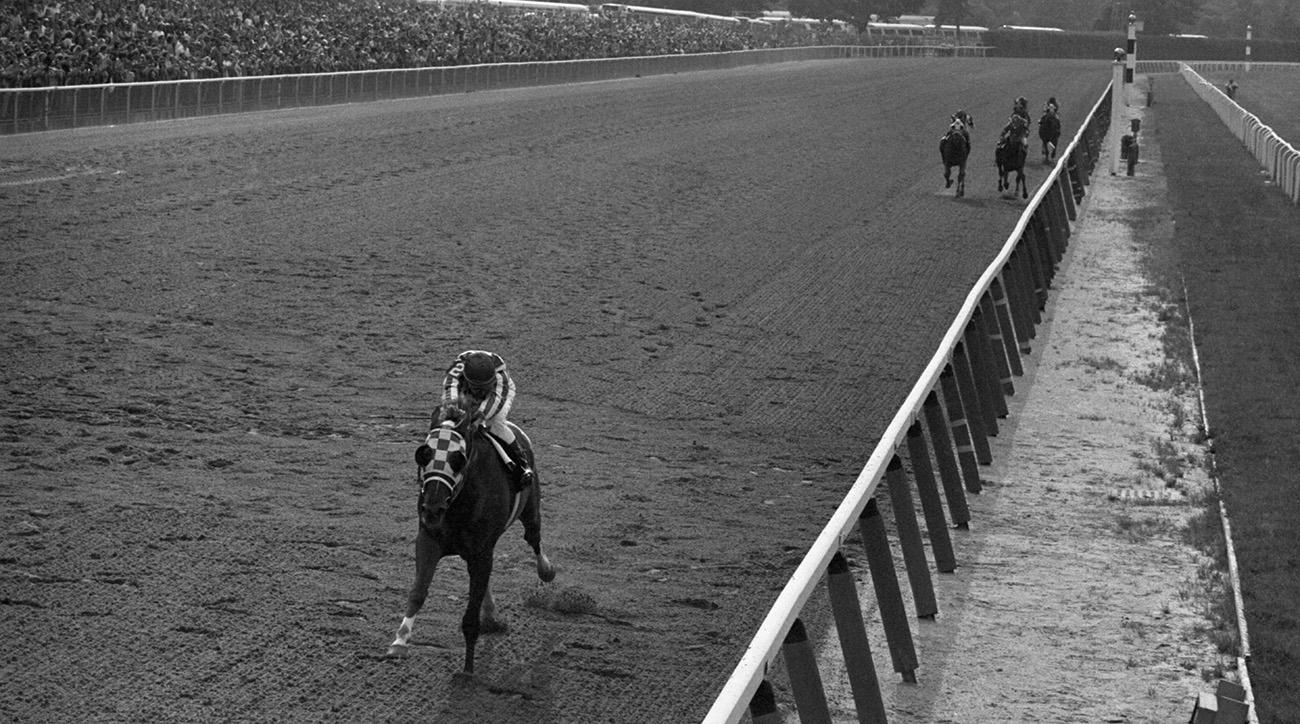 Secretariat in 1973 Belmont Stakes