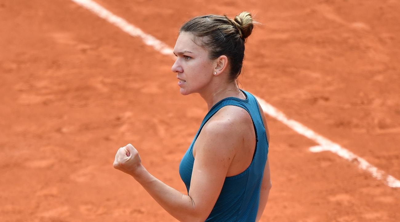 Simona Halep Elise Mertens Caroline Wozniacki French Open roland garros