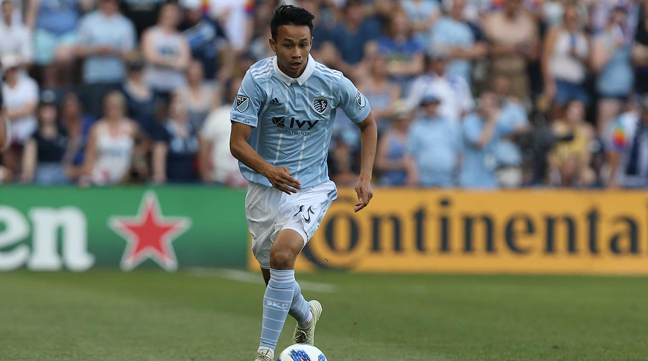 SOCCER: MAY 27 MLS - Columbus Crew at Sporting Kansas City