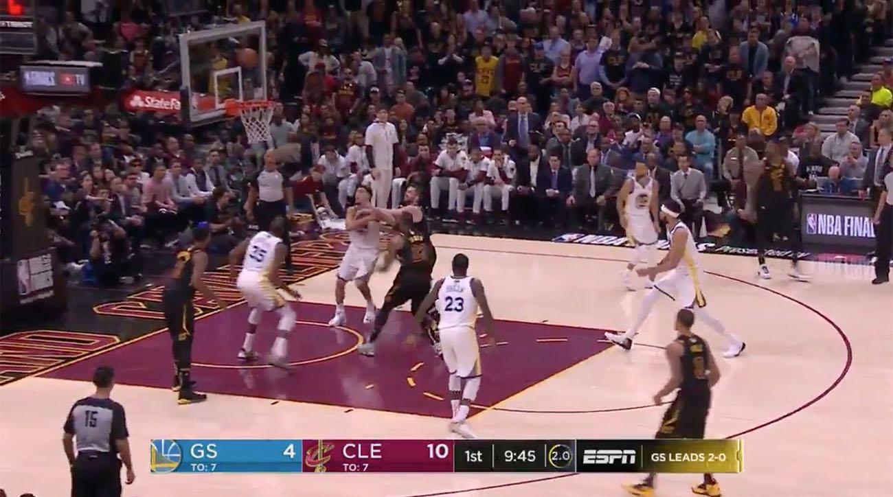 LeBron James self alley-oop