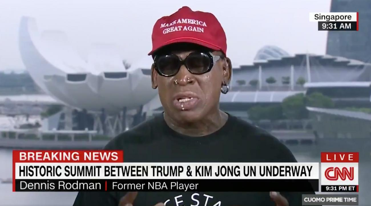 Dennis Rodman breaks down in tears during CNN interview on North Korea