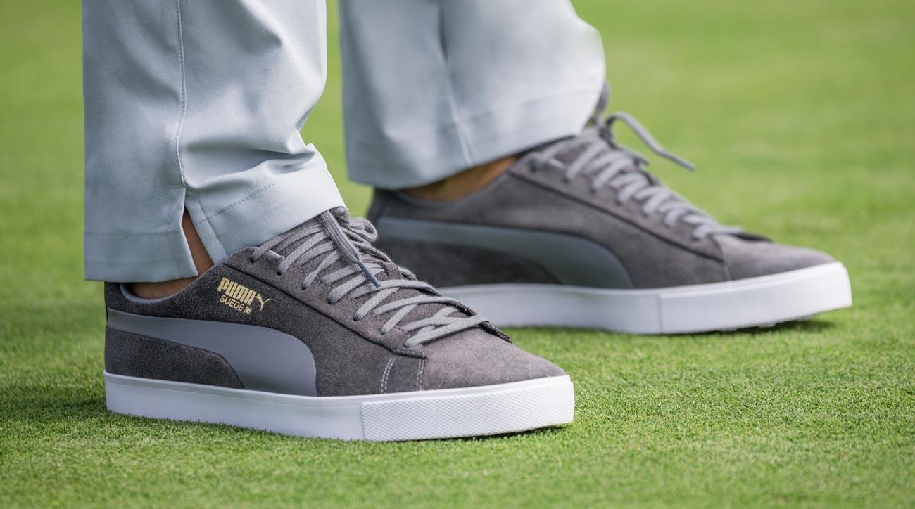 The new Puma Suede G golf shoes in action