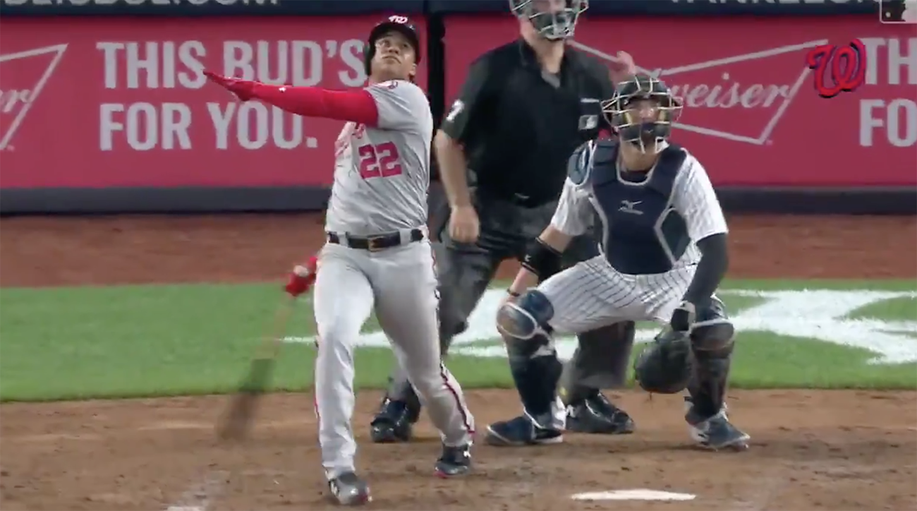 juan soto, Nationals, yankees, Yankee Stadium, childish bambino, juan soto homers video, juan soto home runs